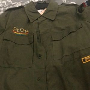 St.one utility jacket army green